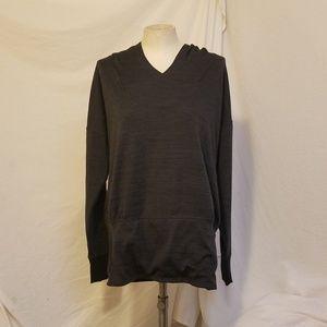ATHLETA Charcoal Hooded Sweatshirt w/Front Pocket